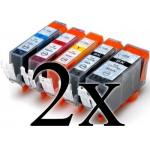 Multipack 10 cartucce compatibili con Canon PGI-525/CLI526