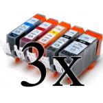 Multipack 15 cartucce compatibili con Canon PGI-525/CLI526