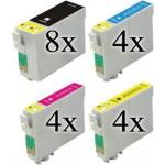 20 cartucce compatibili con Epson 27XL 8 nero 4 ciano 4 magenta 4 giallo