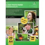 Carta Fotografica High Glossy Photo Paper A4 20 Fogli - 240 g/m²