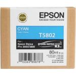 T5802 Cartuccia ciano C13T580200 Originale Epson