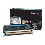 Toner ciano C746A1CG Originale Lexmark
