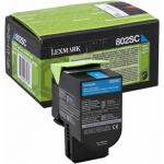 Toner ciano 80C2SC0 Originale Lexmark