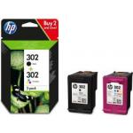 X4D37AE multipack Cartuccia Nero + Colore Originale HP 302