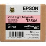 T8506 Cartuccia magenta chiaro vivido C13T850600 Originale Epson