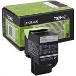 702HK Toner nero 70C2HK0 Originale Lexmark