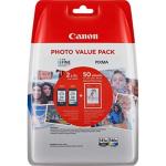 8286B007 Canon Multipack 2 Cartucce ORIGINALI (1x PG-545XL Nero + 1x CL-546XL colori) Alta Capacità + 50ff Carta Foto 10x15