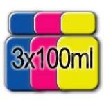 Inchiostri Universali per ricarica Cartucce Stampanti Epson 3x100ml C/M/Y