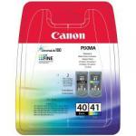 0615B051 PG40CL41 Cartucce Canon ORIGINALI (1x PG-40 Nero + 1x CL-41 colori)