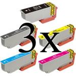 15 Cartucce Compatibili con Epson 26XL (3 per ogni colore)