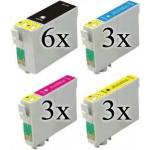 15 cartucce compatibili con Epson 27XL 6 nero 3 ciano 3 magenta 3 giallo