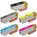5 Cartucce Compatibili con Epson 26XL (1 per ogni colore)