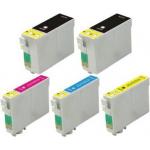 5 cartucce compatibili con Epson 27XL 2 nero 1x ciano magenta giallo