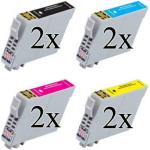 8 cartucce Compatibili con Epson 603 XL serie Stella Marina Alta Capacità (2 nero 2 ciano 2 magenta 2 giallo)