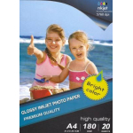 Carta Fotografica High Glossy Photo Paper A4 20 Fogli - 1800 g/m²