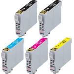 5 Cartucce COMPATIBILI serie T0441/2/3/4 (2 nero + 1x c/m/y)