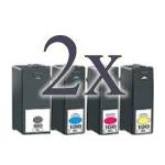 8 cartucce compatibili Lexmark 100XL (2 nero, 2 ciano, 2 magenta, 2 giallo) alta capacita