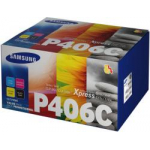 Value Pack CLT-P406C 4 Toner Originali Samsung: nero ciano magenta giallo