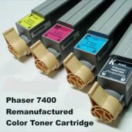 Toner rigenerati per stampante Xerox Phaser 7400 (tutti i modelli) NERO CIANO MAGENTA GIALLO