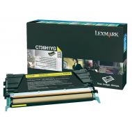 Toner giallo C736H1YG Originale Lexmark