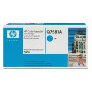 Toner ciano Q7581A Originale HP