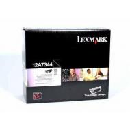 Toner nero 12A7344 Originale Lexmark