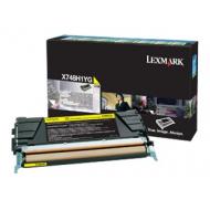 Toner giallo X748H1YG Originale Lexmark