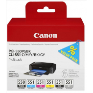 6496B005 Multipack Originale Canon. 6 cartucce PGI550/CLI551