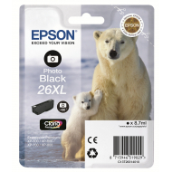 Cartuccia nero foto C13T26314010 Originale Epson 26XL Orso Polare