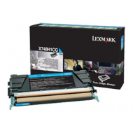 Toner ciano X748H1CG Originale Lexmark
