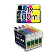 Cartucce Ricaricabili con chip autoresettanti COMPATIBILI T1281/2/3/4 + 400ml inchiostro