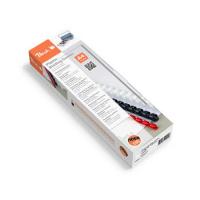 Confezione da 25 Dorsi Plastici Peach 12mm, max 95 fogli A4, bianco