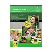 Carta Fotografica High Glossy Photo Paper A4 20 Fogli - 240 g/m²