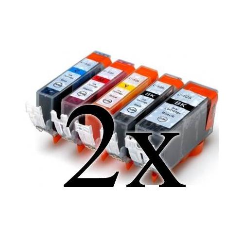 Multipack 10 cartucce compatibili con Canon PGI520/CLI521