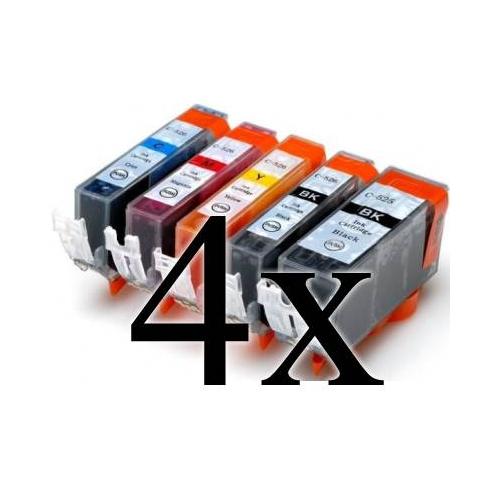 Multipack 20 cartucce compatibili con Canon PGI-525/CLI526