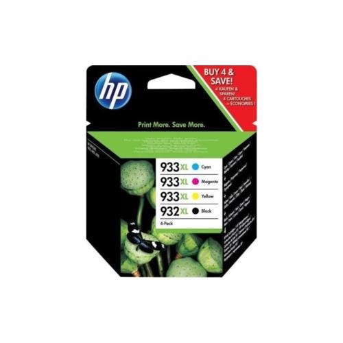 C2P42AE KIT 4 CARTUCCE ORIGINALI HP: CARTUCCIA INK NERO 932XL + CARTUCCE INK CIANO,MAGENTA,GIALLO 933XL