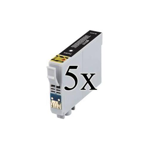5 Cartucce COMPATIBILI serie Ghepardo T0711 Epson NERO