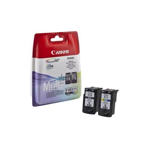 Canon 2970B011 PG510 CL511 multipack Cartucce ORIGINALI (PG-510 Nero + CL-511 colori)