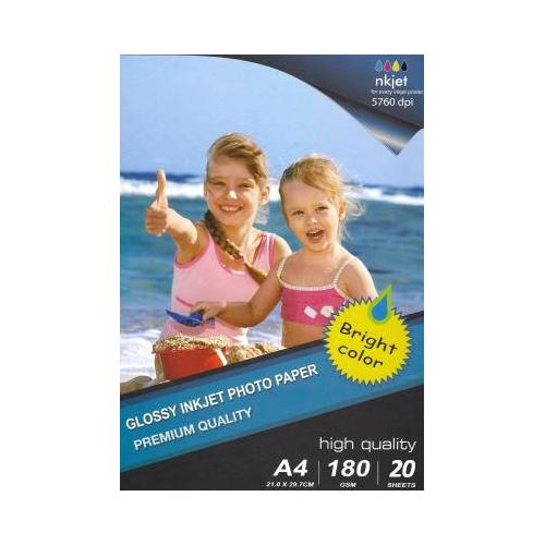 Carta Fotografica High Glossy Photo Paper A4 20 Fogli - 1800 g/m²