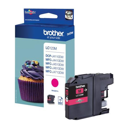 Cartuccia Originale Brother LC-123M colore Magenta