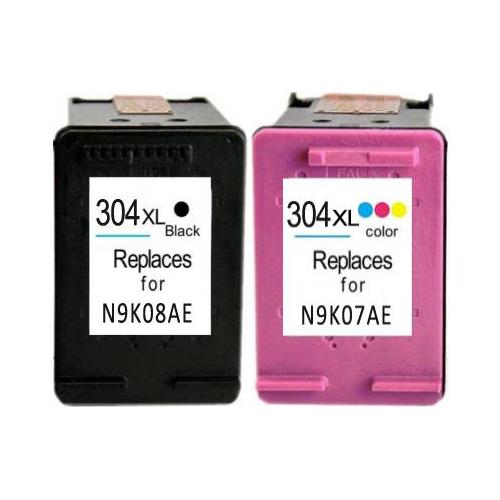 Cartucce Rigenerata HP 304 XL nero + colore