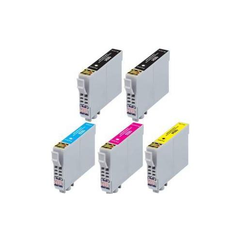 5 Cartucce COMPATIBILI serie T1281/2/3/4 (2 nero + 1x c/m/y)