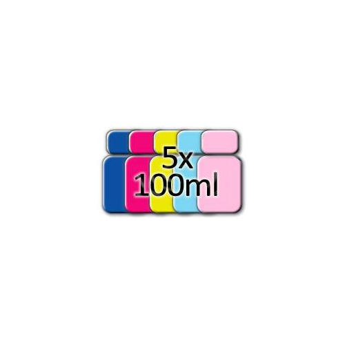 500ml inchiostro c/m/y/pc/pm (5x100ml) per ricarica cartucce compatibili Epson