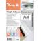 Copertine Peach in cartoncino liscio lucido, 250gr, A4, bianco, 100 fogli