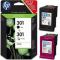 HP 301 Combo pack cartucce inkjet Nero - Colore N9J72AE Originale HP