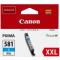 CLI-581XXLC CARTUCCIA INCHIOSTRO CYANO PER PIXMA TS 6150/8150/9150 TR 8550 (11,7ml)