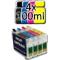 Inchiostro Universale 400ml per ricarica cartucce Epson + 4 Cartucce VUOTE COMPATIBILI T1291/2/3/4 AUTORESET
